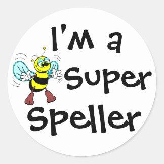 I'm A Super Speller Classic Round Sticker