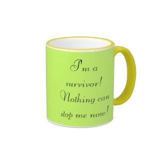 I'm a survivor! Nothing can stop me now! Ringer Mug
