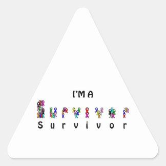 I'm a survivor triangle sticker