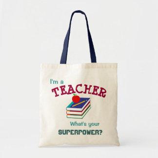 """I'm a Teacher"" Tote Budget Tote Bag"