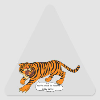 I'm a Tiger and I ain't Lion Triangle Sticker