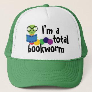 I'm a total bookworm trucker hat