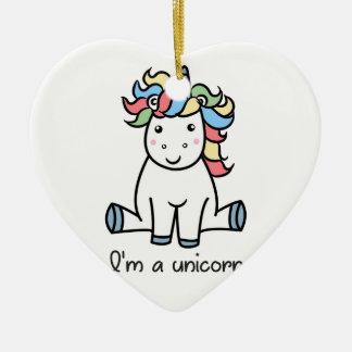 I'm a unicorn! ceramic ornament