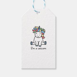 I'm a unicorn! gift tags