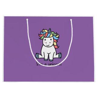 I'm a unicorn! large gift bag