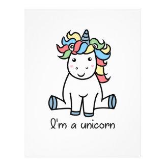 I'm a unicorn! letterhead