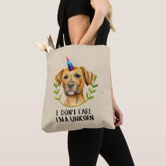 """I'M A UNICORN"" Pit Bull Dog Illustration Tote Bag"
