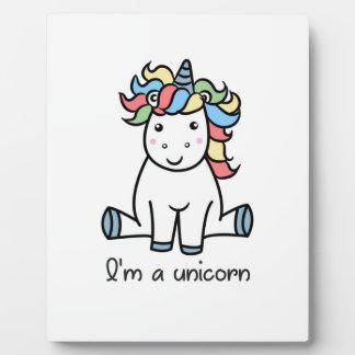 I'm a unicorn! plaque