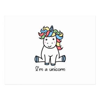 I'm a unicorn! postcard