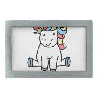 I'm a unicorn! rectangular belt buckle