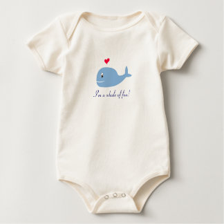 I'm a whale of fun! baby bodysuit