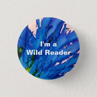 I'm a Wild Reader - Zaffre Button