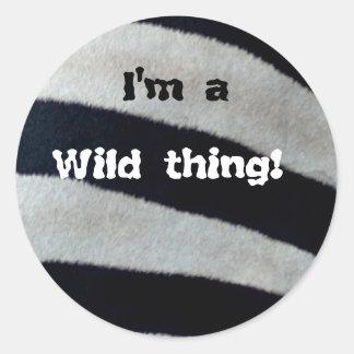 I'm a wild thing round sticker