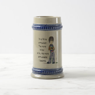 I'm a Wine enthusiast 18 Oz Beer Stein