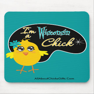 I'm a Wisconsin Chick Mouse Pad