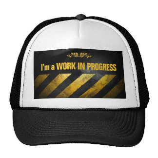 I'm a Work in Progress Mesh Hats