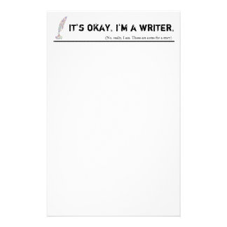 I'm a writer. No, really, I am. Custom Stationery