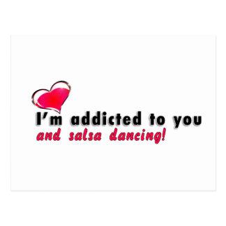 I'm addicted to you and salsa dancing Postcard