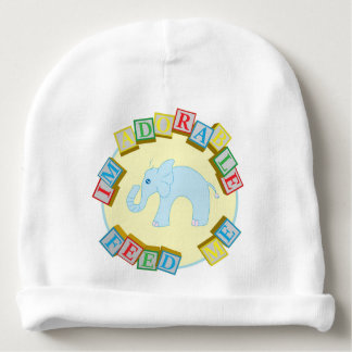 """""""I'm Adorable, Feed Me!"""" Doodle Noodle Designs Baby Beanie"""
