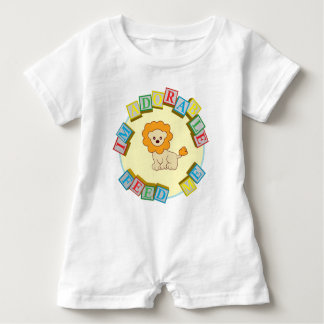 I'm Adorable Feed Me! Lion Doodle Noodle Designs Baby Romper