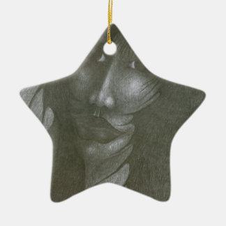 I'm Afraid Ceramic Ornament