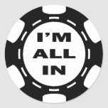 I'M ALL IN POKER CHIP STICKER