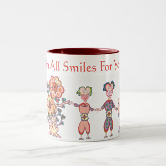 I'm All Smiles For You! (TM) Two-Tone Coffee Mug