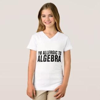 I'M ALLERGIC TO ALGEBRA Funny Kids T-shirts