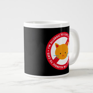 I'm allergic to cats! Cat allergy Large Coffee Mug