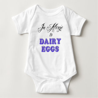 I'm Allergic to DAIRY & EGGS Baby Bodysuit