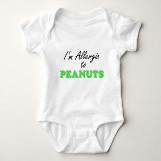 I'm Allergic to PEANUTS Baby Bodysuit