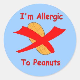 I'm Allergic to Peanuts Blue Sticker