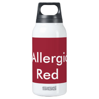 I'm Allergic to Red Insulated Water Bottle