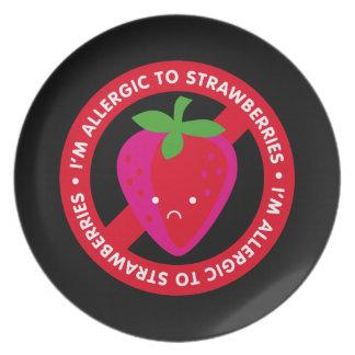 I'm allergic to strawberries! Strawberry allergy Plates
