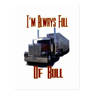 I'm Always Full Of Bull Postcard