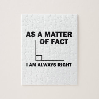 I'm always right jigsaw puzzle