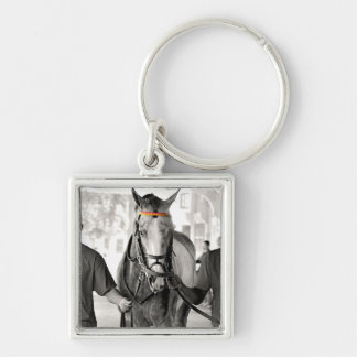 I'm Amazing Silver-Colored Square Keychain