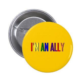 I'm an Ally Round Button