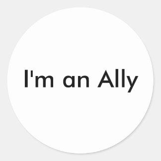 I'm an Ally Round Sticker