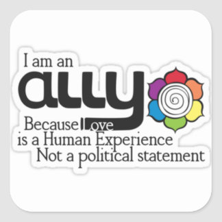 I'm an ally square sticker