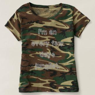 I'm an every few days junglist, 3 colors of camo t-shirt
