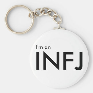 I'm an INFJ - Personality Type White Keychain