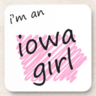 I'm an Iowa Girl Beverage Coaster