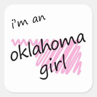 I'm an Oklahoma Girl Square Sticker