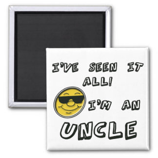 I'm An Uncle Square Magnet
