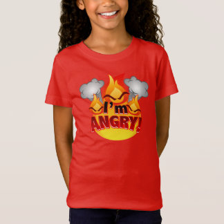I'm Angry! Girls red T-shirt