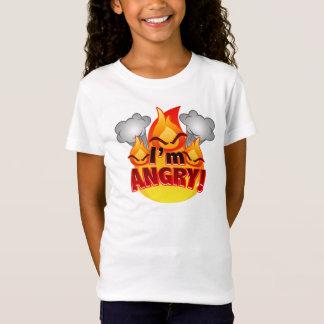 I'm Angry! Girls white T-shirt