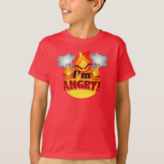 I'm Angry! Kids red T-shirt