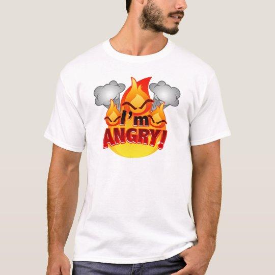 I'm Angry! Men's white T-shirt