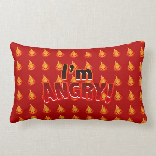 I'm Angry! red Throw Pillow